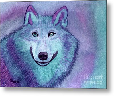 A Wolf Of A Different Color Metal Print by Vikki Wicks