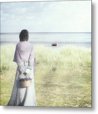 A Woman And The Sea Metal Print