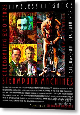 A Word From The Ceo Steampunk Machines Celebrating 200 Years 20140515 Black V2 Metal Print