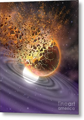 A World Ripped Apart Metal Print by Lynette Cook