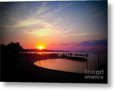 A Yorktown Sunset Metal Print
