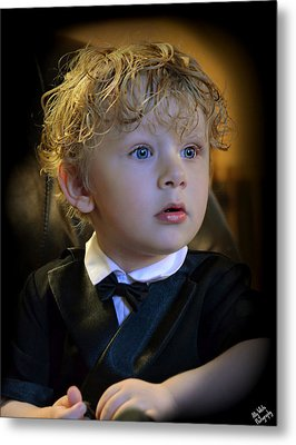 Metal Print featuring the photograph A Young Gentleman by Ally  White