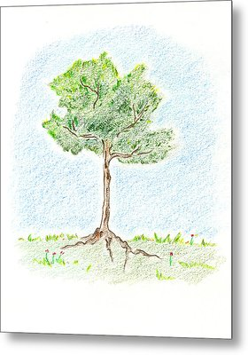 A Young Tree Metal Print