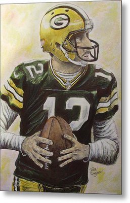 Metal Print featuring the painting Aaron It Out by Dan Wagner
