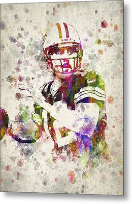 Aaron Rodgers Metal Print by Aged Pixel