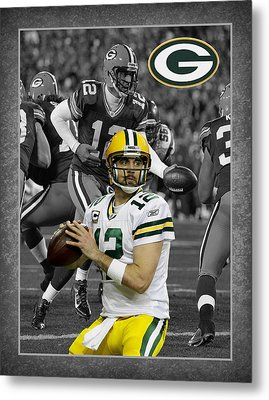 Aaron Rodgers Packers Metal Print by Joe Hamilton