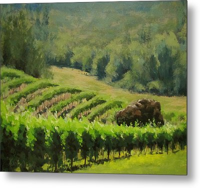 Abacela Vineyard Metal Print by Karen Ilari