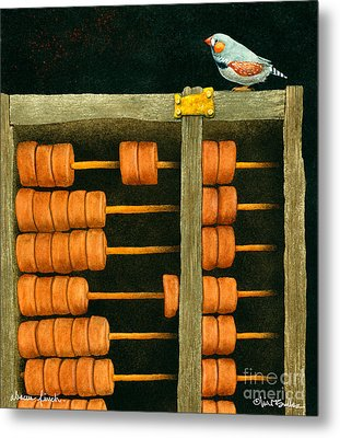 Abacus Finch... Metal Print by Will Bullas