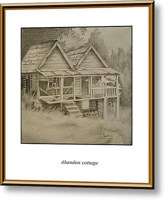 Abandon Cottage Metal Print by Jerome Perrin