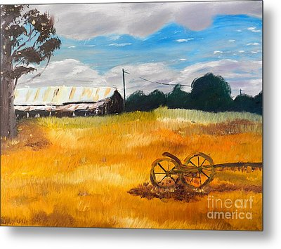 Abandon Farm Metal Print