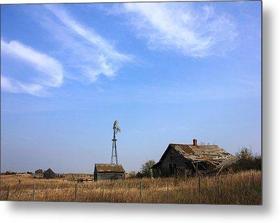 Abandoned Alberta Prairie Home Metal Print by Jim Sauchyn