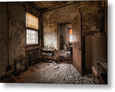 Abandoned Asylum - Haunting Images - What Once Was Metal Print by Gary Heller