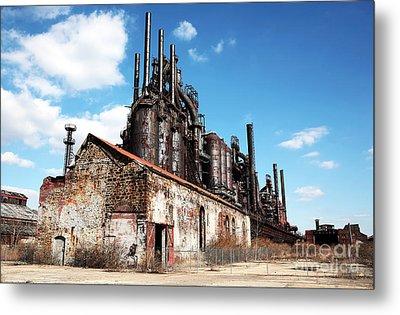 Abandoned Bethlehem Steel Metal Print by John Rizzuto