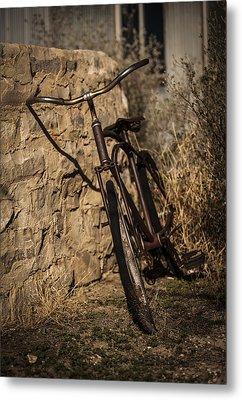 Abandoned Bicycle Metal Print by Amber Kresge