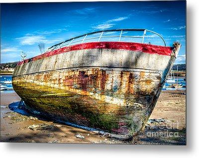 Abandoned Boat Metal Print by Adrian Evans