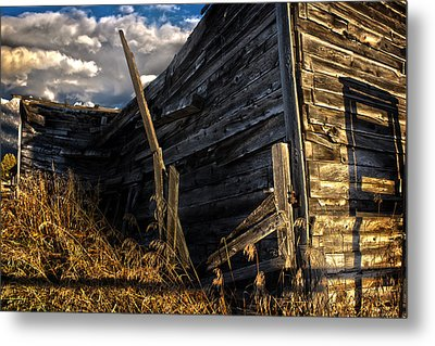 Metal Print featuring the photograph Abandoned Building Fort Steele by Rob Tullis