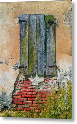 Abandoned Building Metal Print