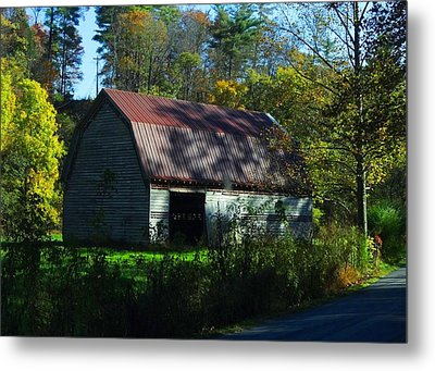 Abandoned By The Roadside Metal Print