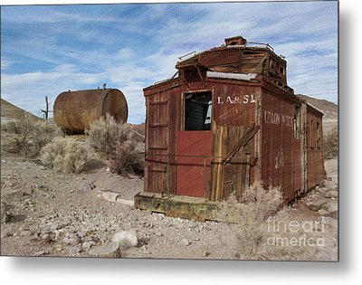 Abandoned Caboose Metal Print by Juli Scalzi