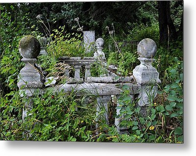 Metal Print featuring the photograph Abandoned Cemetery 2 by Cathy Mahnke