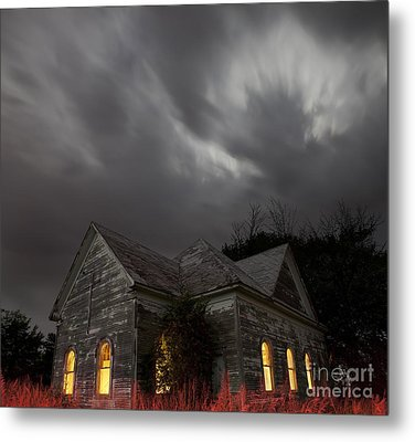 Abandoned Church Of Walters Oklahoma Metal Print by Keith Kapple