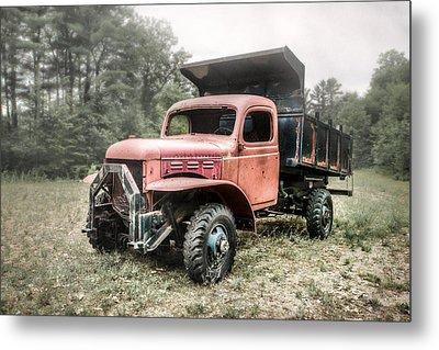Abandoned Dump Truck - American Classics Metal Print by Gary Heller
