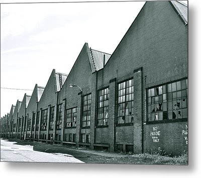 Abandoned Factory Metal Print by MB Matthews