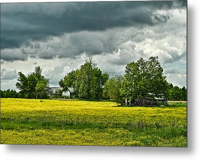 Abandoned Farm In Spring Metal Print