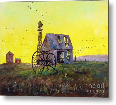 Abandoned  Farm Metal Print by Lee Piper