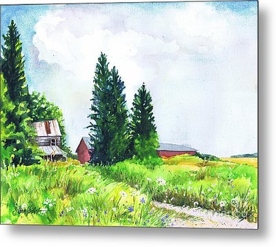 Abandoned Farmhouse Metal Print