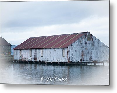 Abandoned Fishery Plant Metal Print