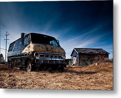 Abandoned Ford Van Metal Print