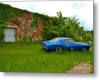 Metal Print featuring the photograph Abandoned Gym And Car by Utopia Concepts