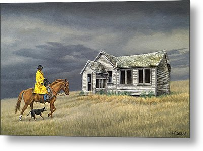 Abandoned Homestead-eastern Idaho Metal Print