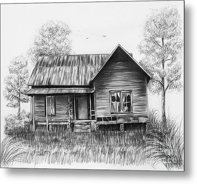 Abandoned House Metal Print by Lena Auxier