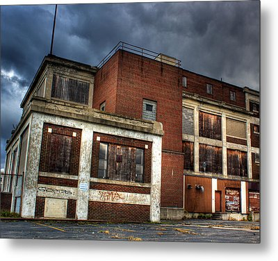 Abandoned In Hdr Metal Print by Tim Buisman