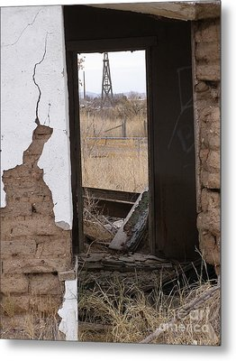 Abandoned In Texas Metal Print
