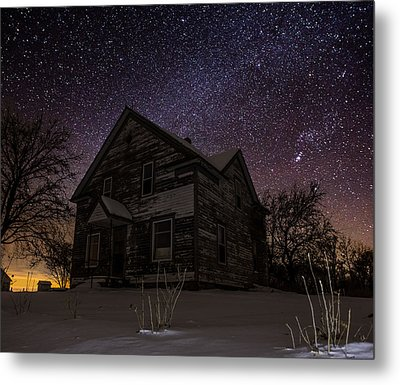 Abandoned In The Cold Metal Print by Aaron J Groen