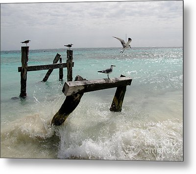 Abandoned Pier Metal Print by Sean Griffin