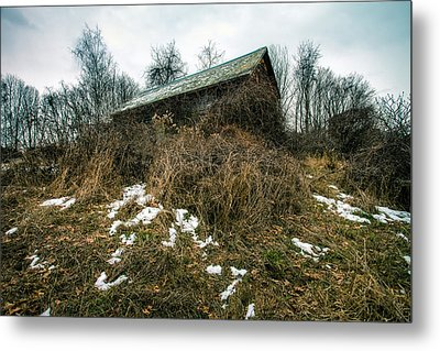 Abandoned Places - Old House - House On The Hill Metal Print by Gary Heller