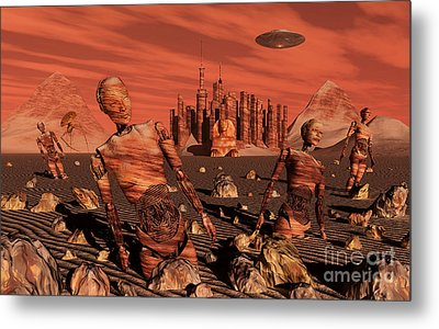 Abandoned Relics From An Advanced Metal Print by Stocktrek Images