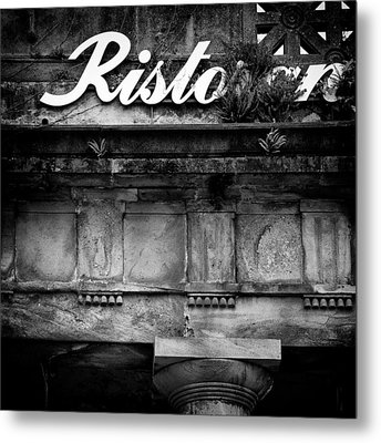 Abandoned Restaurant Metal Print by Dave Bowman