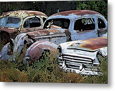 Abandoned Row Metal Print