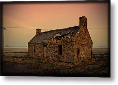 Abandoned Scottish Croft Metal Print by Liz  Alderdice