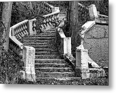Abandoned Staircase Metal Print by Olivier Le Queinec