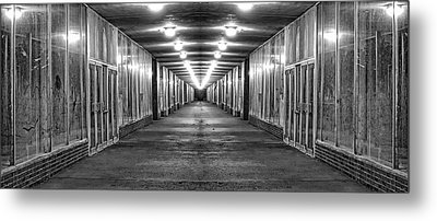Abandoned Strip Mall Panoramic Metal Print by Tom Mc Nemar