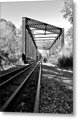 Abandoned Tracks Metal Print