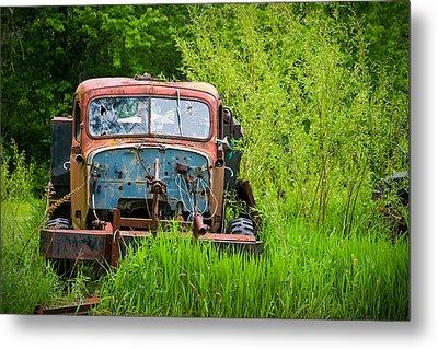 Abandoned Truck In Rural Michigan Metal Print by Adam Romanowicz