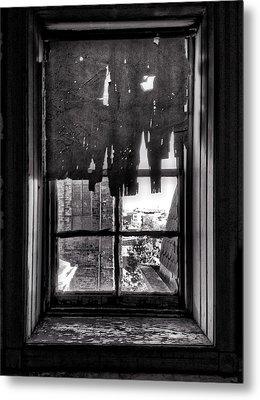 Abandoned Window Metal Print