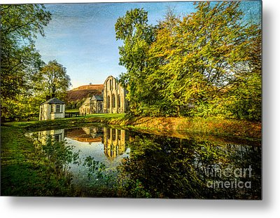 Abbey Lake Autumn Metal Print by Adrian Evans